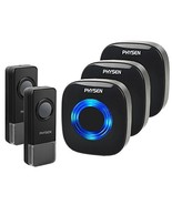 Physen Model CW Waterproof Wireless Doorbell kit with 2 Buttons and 3 Pl... - $34.82