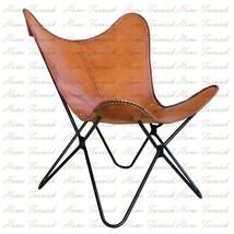 Handmade Leather Chair AA Butterfly Chair BKF Genuine Leather Chairs Butterfly - $207.90