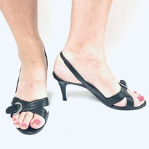Sergio Rossi Made in Italy Heeled Sandals Size 9 Little Black Dress Buck... - $29.09