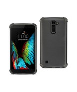Reiko Lg K10 Mirror Effect Case With Air Cushion Protection In Clear Black - $7.80