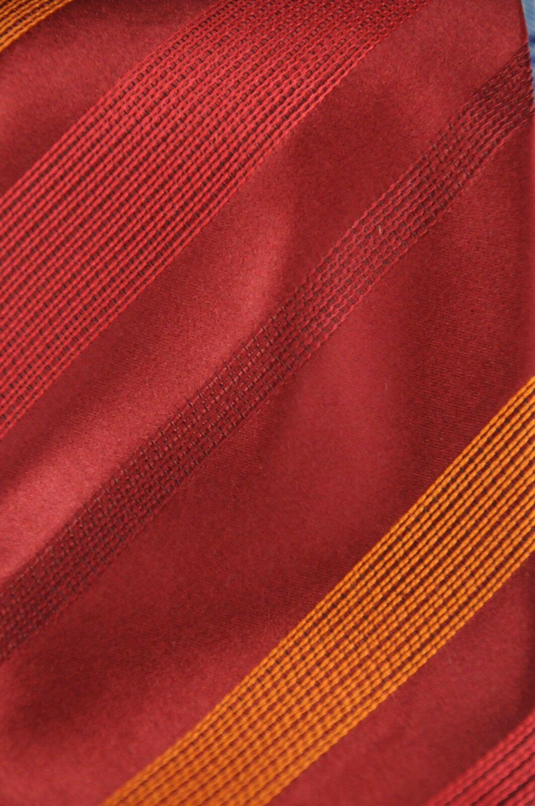 Kenneth Cole Men's Tie Ruby & Orange Striped Woven Silk Necktie 60 x 3.5 in. image 3