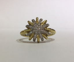 David Yurman  Starburst Ring with Diamonds in 18K Gold - $1,380.00