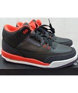 Nike Air Jordan III 3 Retro GS Black Bright Crimson Youth 398614-005 Siz... - $104.93