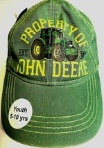 Property John Deere Tractors Est. 1837 Boys Girls Unisex Green Cap One S... - $19.79