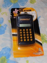 """Japanese Import Duracell Mini Clip On 3"""" Calculator New in Package - $14.95"""