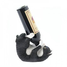 Accent Plus Playful Cat Wine Bottle Holder Polyresin New - $16.82