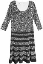 Anne Klein Dress  Sz 8 Black Camellia Business Casual Party Jersey Swin... - $69.26