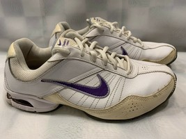 NIKE Air Exceed Women's Trainer Shoes Size 8.5 White Purple 366650-102 - £22.97 GBP