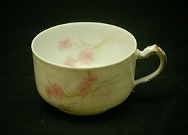 """Antique Haviland Limoges France 2"""" Footed Coffee Tea Cup Pink Cornflower a - $16.82"""
