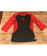NIKE PRO COMBAT DRI FIT MLB Ken Griffey, Jr. SWINGMAN Baseball Shirt Red... - $9.85