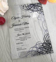 Acrylic Wedding Invites,Custom Acrylic Wedding Invitation,10pcs Acrylic ... - $6.50+