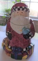 SAKURA Debbie Mumm MAGIC OF SANTA CLAUS Ceramic Christmas Cookie Jar - $12.51