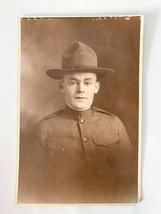 Old WWI WW1 Military Antique Photo Military Soldier Uniform Portrait Pic... - $25.00