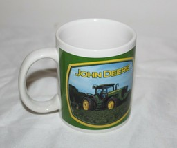 John Deere Tractor Old & New Coffee Mug Cup Houston Harvest Farming 12 oz - $14.84