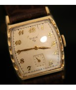 Classic & beautiful men's vintage 1953 Elgin 10K RGP dress 21 jewel wris... - $79.20