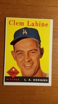 1958 Topps Baseball #305 Clem Labine (Dodgers) Nice Card - $3.96