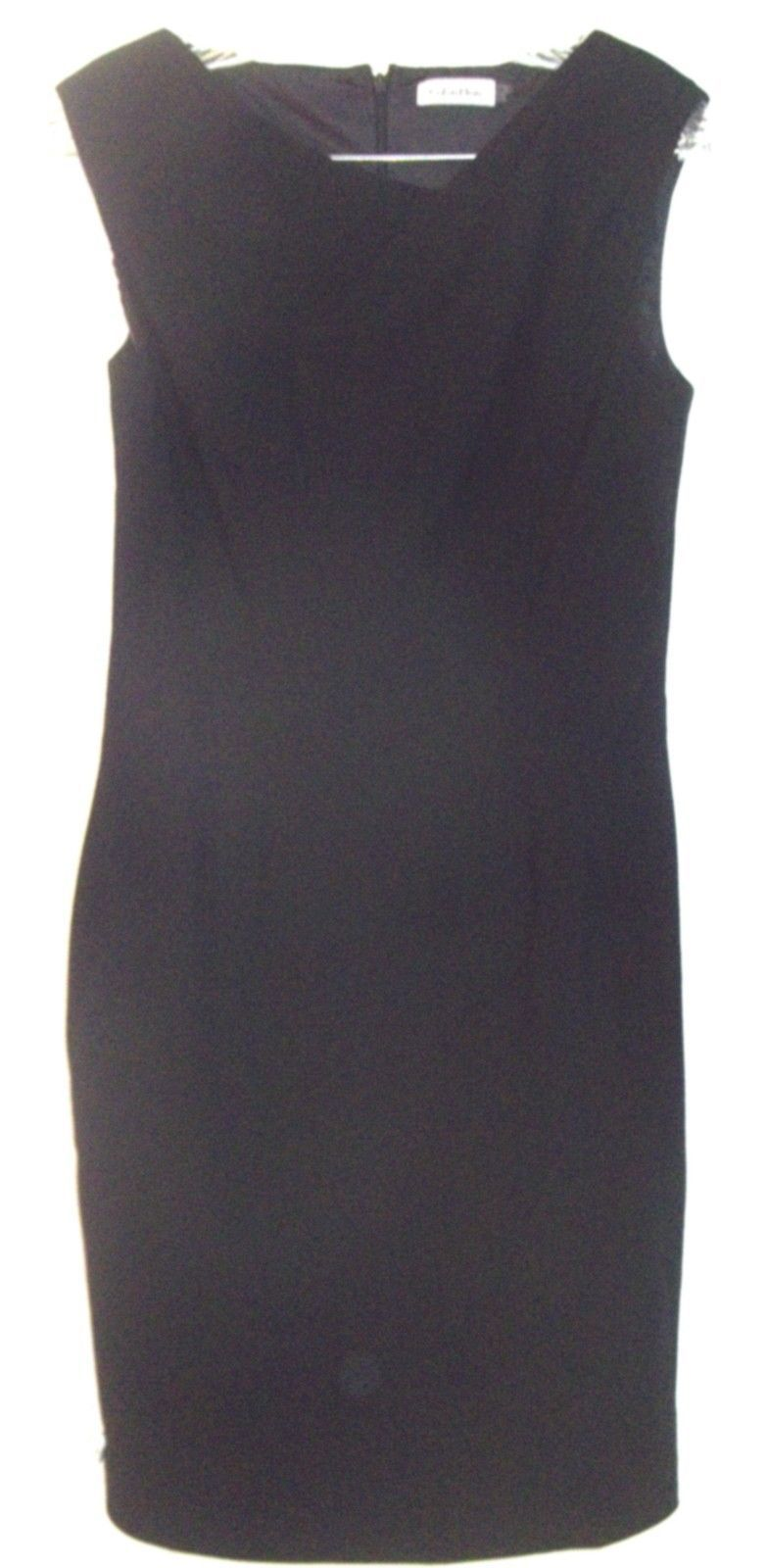 Primary image for Calvin Klein Black Sleeveless Dress with Waistline Darts Sz 6