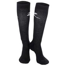 8.5-9.5 HORZE JACQUARD COTTON BREATHABLE RIDER COTTON KNEE SOCKS PAIR BLACK - $242,72 MXN