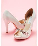 Open toe Wedding Shoes,Peep toe Bridal Heels,Evening Pump,Bridal Shoes f... - $68.00
