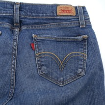 Levis Curvy Cut 528 Jeans Distressed Medium Wash Boot Cut Womens 9 Short... - $19.66