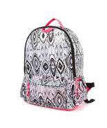Black and White Aztec Print Backpack Girl's School Book Bag - NWT - $29.69
