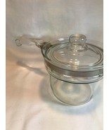 Vtg Pyrex Glass Sauce Pan Pot  Glass Handle &  Lid 6212 Pour Spout! - $18.05