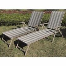 Outdoor Folding Sun Lounge Chair 2Pc Set Portab... - $118.79