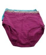 Breezies Set 3 Nylon Microfiber Brief Panty Deep Red 1X NEW A287799 - $21.75
