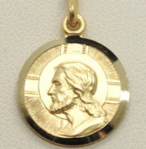 SOLID 18K YELLOW GOLD JESUS CHRIST REDEEMER 17 MM MEDAL, PENDANT, MADE IN ITALY image 1