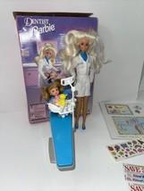 1997 Mattel Dentist Barbie Doll w/ patient & accessories - $22.37