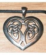 Celtic Heart Celtic Visions Metal Pendant Necklace NEW UNUSED - $9.74