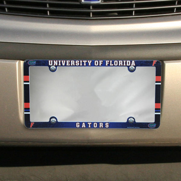 FLORIDA GATORS COLOR CAR AUTO PLASTIC LICENSE PLATE TAG FRAME NCAA