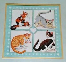 "CATS KITTENS Cute! Feline Foursome CROSS STITCH KIT Dimensions 3715 12"" ... - $18.52"