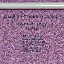 American Eagle Soft & Sexy Plush Fuchsia Purple Long Sleeve Knit Sweater Size XS image 3