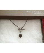 """Silpada N1708 Sterling Silver Smoky Quartz Front Toggle Swirl Necklace 18"""" - $31.51"""