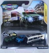 Hasbro Micro Machines 2020 series 2 Micro City #06 - CHROME Chase BUS - ... - $14.95