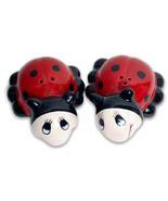 Clever Choice NOHO Studio Cute Ladybug Ceramic Salt And Pepper Shakers - $14.84