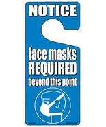 Face Masks Required Blue Novelty Metal Door Hanger - $12.95