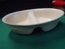 """Pfaltzgraff """"Remembrance"""" ...2 Section Divided Dish - $10.11"""