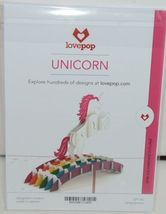 Lovepop LP1140 Unicorn Pop Up Card with White Envelope Cellophane Wrapped image 6
