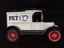 1913 Model T Van Replica Ford Delivery Truck Pet Milk Metal Bank - $9.95