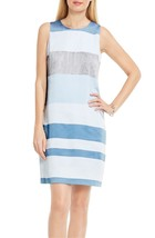 VINCE CAMUTO Veranda Stripe Shift Dress STORMY BLUE Size 6 - $24.18