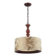Elk Lighting Nathan 3-Light Pendant, Dark Walnut - $113.73