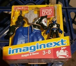 Fisher Price Imaginext Blue Knight & Horse Figure New - $25.99