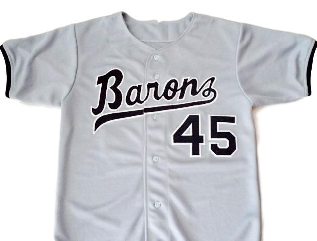 Michael jordan  45 birmingham barons button down baseball jersey grey 1
