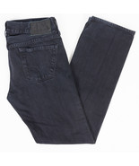 Guess Lincoln Slim Straight Mens Jeans Black Wash Size 31x32  - $34.27