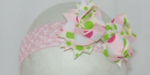 Unbranded Girl Infant Toddler Headband Removable Hair Bow