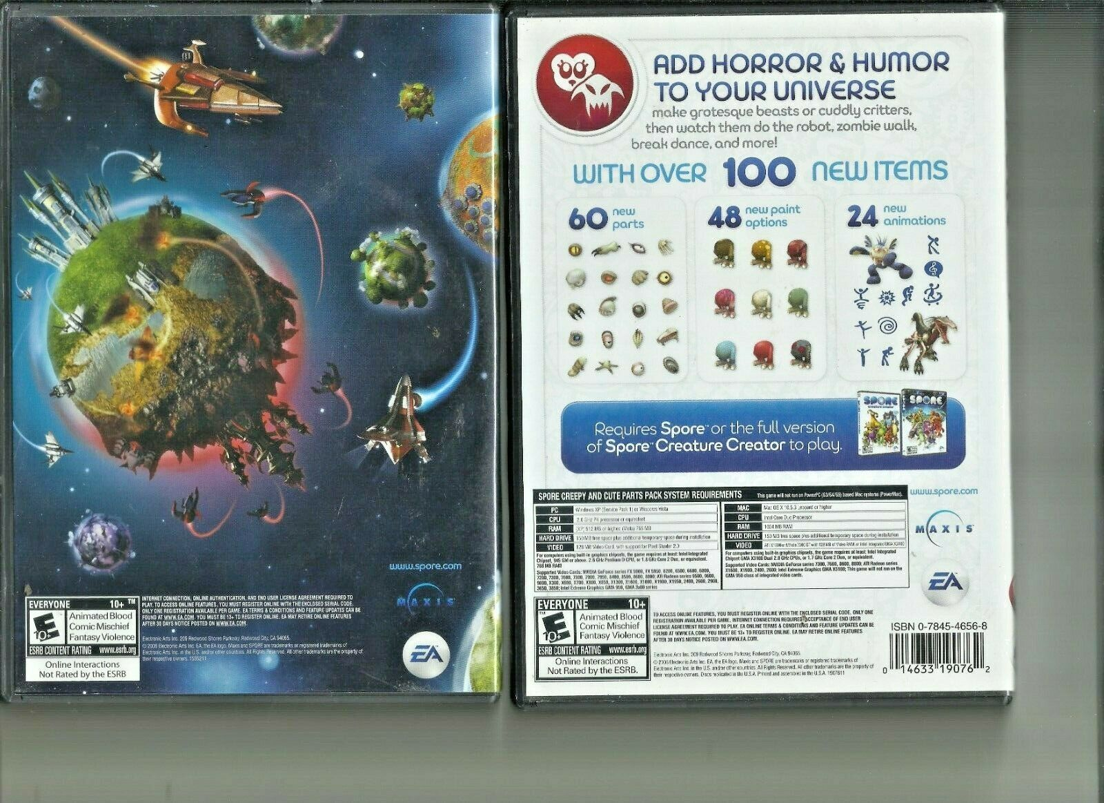 Spore plus Creepy and Cute parts pack  Video Game for Win Mac E-10+ EA