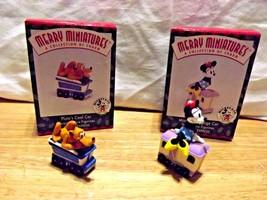 2 Mickey & Co Merry Miniatures Pluto's Coal Car, Minnie's Luggage Car Hallmark - $11.89