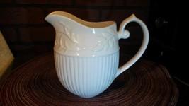 I. Godinger Porcelain Mini Ivory Vine Pitcher Dressing, Syrup, Juice, Mi... - $18.85